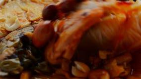 准备米粉便当用花生和干beancurd &德国泡菜 股票录像