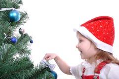 准备结构树的圣诞节 免版税库存照片