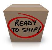 准备运输纸板箱邮寄的包裹顺序在库存 库存照片