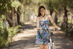准备骑我的自行车 图库摄影