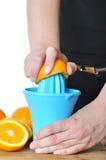 准备100%橙汁 库存图片