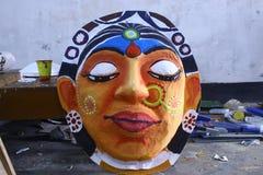 准备Pohela Boishakh孟加拉新年在达卡 免版税图库摄影