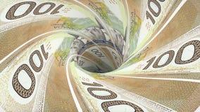 凉快加拿大元污水池blackhole漏斗隧道无缝的圈动画背景新的质量财务的事务 皇族释放例证