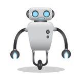 凉快和逗人喜爱的3d机器人例证 免版税库存图片