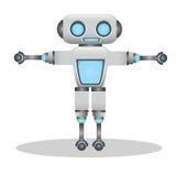 凉快和逗人喜爱的3d机器人例证 免版税图库摄影