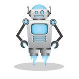 凉快和逗人喜爱的3d机器人例证 图库摄影