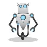 凉快和逗人喜爱的3d机器人例证 库存照片