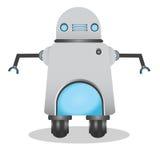 凉快和逗人喜爱的3d机器人例证 免版税库存照片