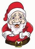 凉快圣诞老人的立场 库存照片