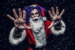 凉快的低劣的圣诞老人 库存照片