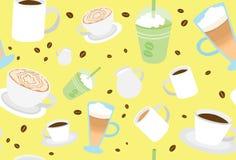 凉快的俏丽的咖啡喝样式 向量例证