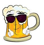 凉快的啤酒动画片 免版税库存照片