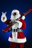 凉快的圣诞老人 免版税图库摄影