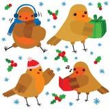 凉快的圣诞节罗宾字符 向量例证