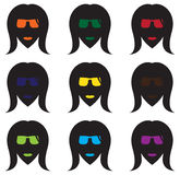 凉快的妇女` s面孔剪影 免版税库存照片