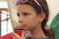 凉快的巧克力冰淇凌 库存照片