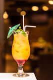 凉快的橙色鸡尾酒 库存图片