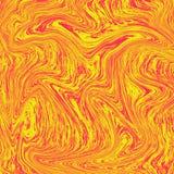 凉快的液体大理石背景 组合的红色和黄色 象橙汁过去的纹理,新鲜看 液体数字 向量例证