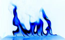 凉快的火温度白色背景 免版税库存照片