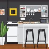 凉快的现代厨房 免版税库存图片