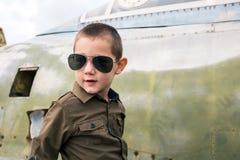 凉快的矮小的飞行员 免版税图库摄影