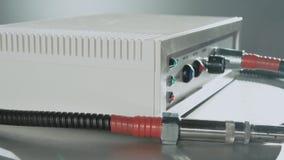 凉快的等离子electrosurgical单位 关闭高技术医疗设备 影视素材