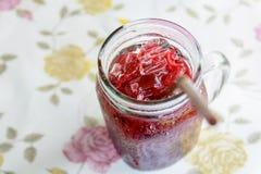 凉快的红色软饮料,熄灭饮料的干渴 免版税库存图片