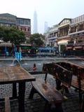 凉快的船坞地标上海旅行 免版税库存图片