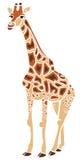 凉快的长颈鹿例证 库存例证