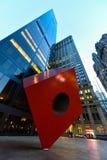 凉快的雕象在更低的曼哈顿 库存图片