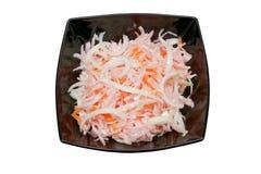 凉拌卷心菜沙拉 库存照片