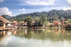 凌家卫岛东方村庄在马来西亚 图库摄影