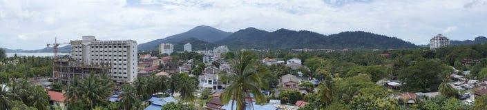 凌家卫岛海岛城市 图库摄影图片