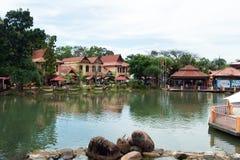 凌家卫岛海岛的,马来西亚东方村庄 免版税库存照片