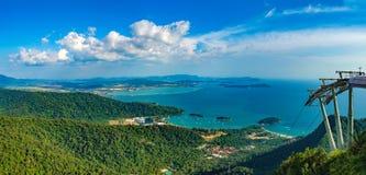 凌家卫岛海岛风景,马来西亚 免版税图库摄影