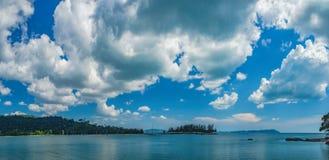 凌家卫岛海岛,马来西亚全景  免版税库存图片