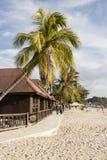 凌家卫岛,马来西亚, 2017年12月21日:美丽的海滩凌家卫岛 库存图片