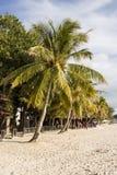 凌家卫岛,马来西亚, 2017年12月21日:美丽的海滩凌家卫岛 库存照片