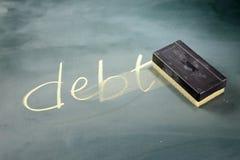 减少债务 免版税库存照片