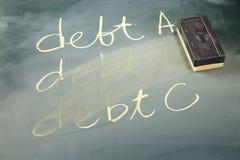 减少债务 库存图片