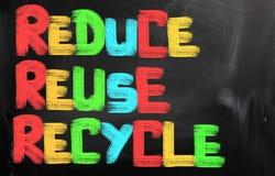 减少再用回收概念 库存图片