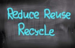 减少再用回收概念 免版税库存照片