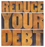 减少您的债务 免版税库存照片
