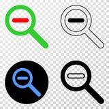 减少标度与等高版本的传染媒介EPS象 免版税库存图片
