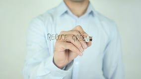 减少温室气体排放,写在透明屏幕 股票录像