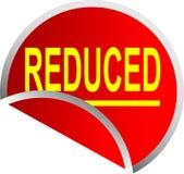 减少的按钮红色 免版税库存照片
