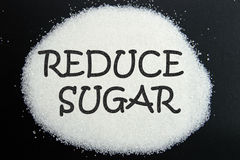 减少糖 免版税库存图片
