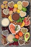 减少重音和忧虑的健康食品 图库摄影