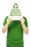 减少,重复利用,并且回收 库存图片