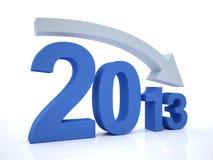 减少2012年与箭头 免版税库存图片